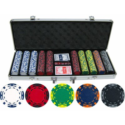 500 Piece Z Striped Clay Poker Chip Set 50014-ZSV2