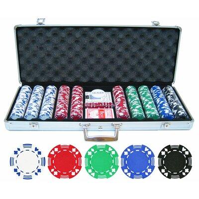 500 Piece Double Suited Poker Chip Set 500-DBLSUITE