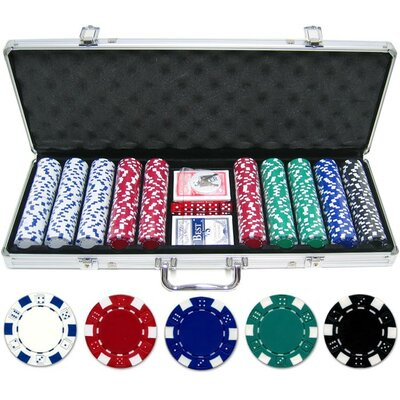 500 Piece Dice Poker Chip Set 500-DC