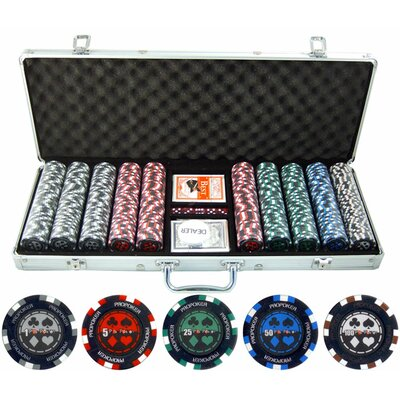 500 Piece Pro Poker Clay Poker Set 500-PP