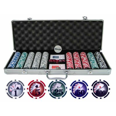 500 Piece Yin Yang Clay Poker Chip Set 500-YY