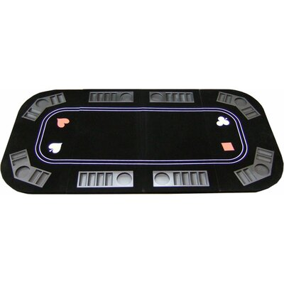 3 in 1 Poker Craps and Roulette Folding Table Top with Cup Holders 3in1