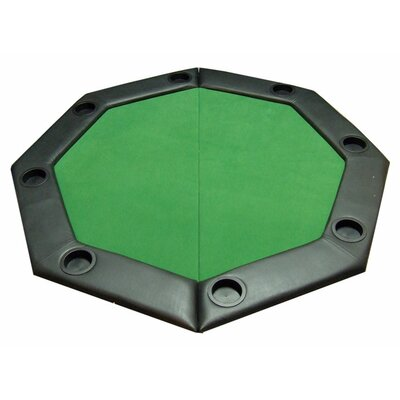 Padded Octagon Folding Poker Table Top with Cup Holders in Green PDOCT-GREEN