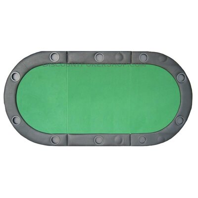 Padded Texas Hold'em Folding Poker Table Top with Cup Holders in Green TX3