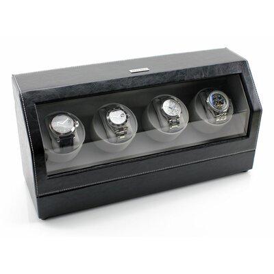 Heiden Quad Winder Watch Box HD014-LEATHER
