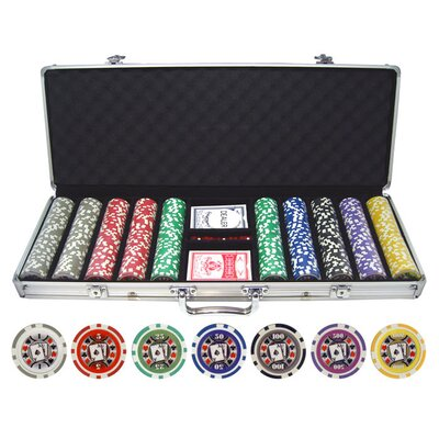 500 Piece Big Slick 11.5g Poker Chip Set 500-bigslick