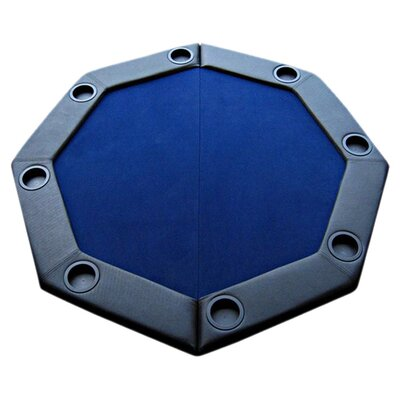 Padded Octagon Folding Poker Table Top Table Top: Blue PDOCT-BLUE