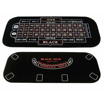 3 in 1 Poker Blackjack and Roulette Folding Table Top with Cup Holders 3in1_blackjack