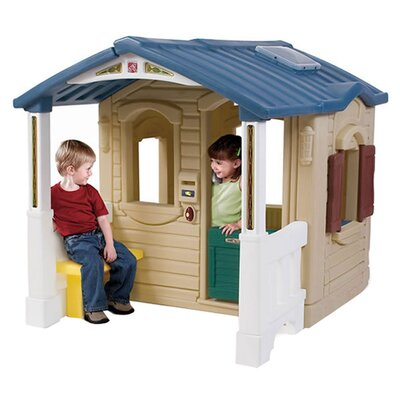 Furniture-Step2 Naturally Playful Front Porch Playhouse
