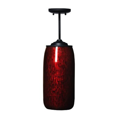 Galaxy 1-Light Mini Pendant Shade Color: Red