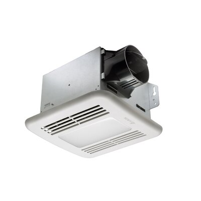 BreezGreenBuilder 80 CFM Energy Star Bathroom Fan with LED Light