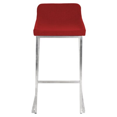 30 inch Bar Stool Upholstery: Red