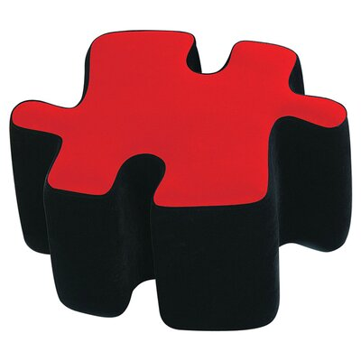 Plush Furniture Ottoman Upholstery: Black/Red