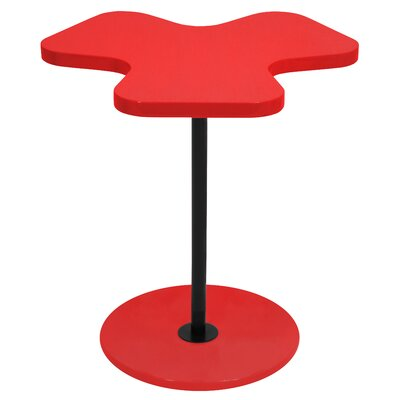 Three Leaf Clover End Table Finish: Red