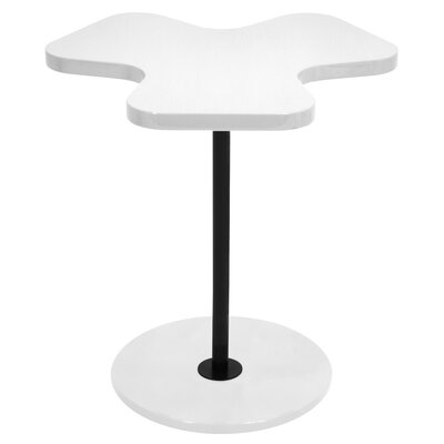 Three Leaf Clover End Table Color: White