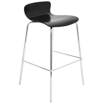 Abbeville 29 Bar Stool Upholstery: Black