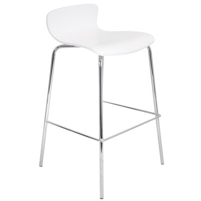 Abbeville 29 Bar Stool Upholstery: White