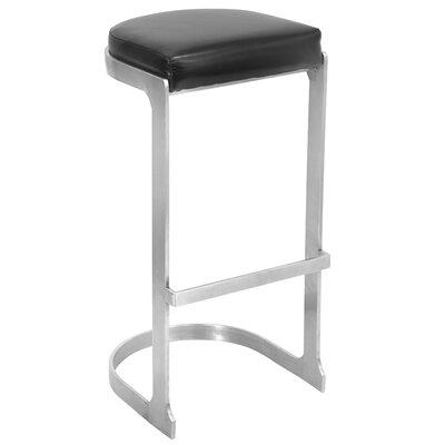 31.5 Bar Stool Upholstery: Black
