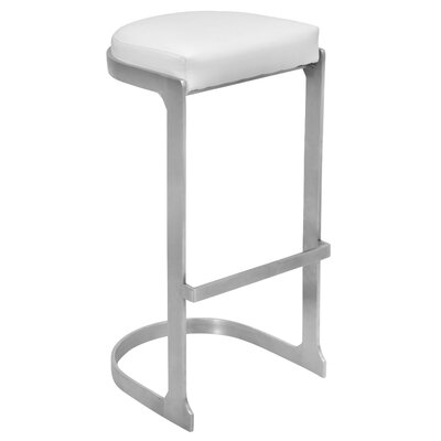 31.5 Bar Stool Upholstery: White