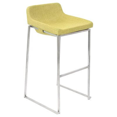30.5 Bar Stool Upholstery: Vintage Green
