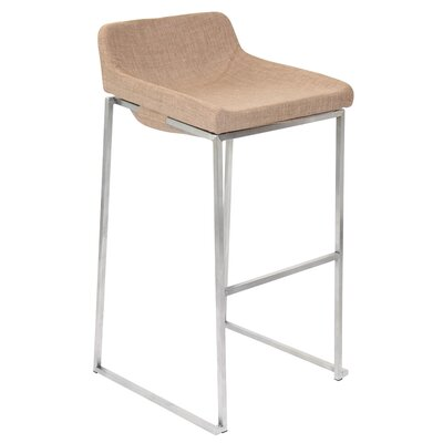 30.5 Bar Stool Upholstery: Tan