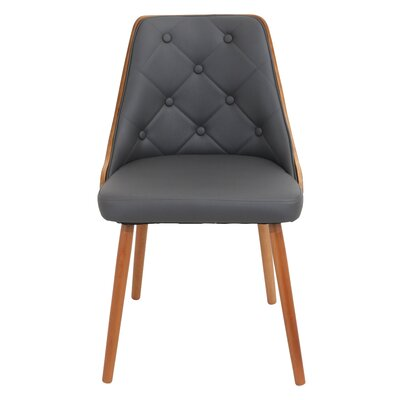 Gianna Side Chair Upholstery: Grey