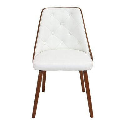 Gianna Side Chair Upholstery: White