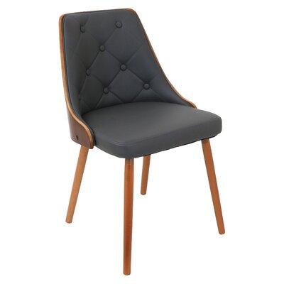 Gianna Side Chair Upholstery: Grey