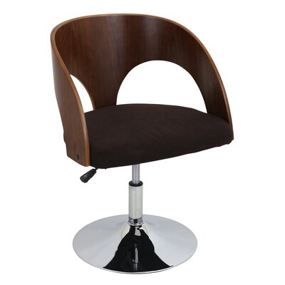 Ava Swivel Barrel Chair Upholstery: Walnut / Brown