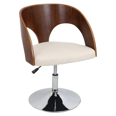 Ava Swivel Barrel Chair Upholstery: Walnut / Cream