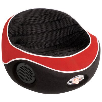 Image of LumiSource BoomPod Child Size Game Chair in Black and Red (LMS1685)