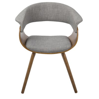 Frederick Armchair Finish: Light Gray, Leg Finish: Cross Frame Bentwood