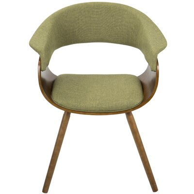 Frederick Armchair Finish: Espresso, Leg Finish: Bent Wood Frame
