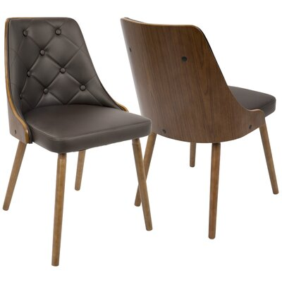Portico Dining Chair Upholstery: Brown