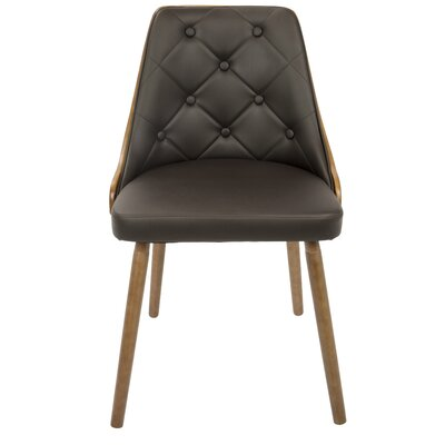 Gianna Side Chair Upholstery: Brown