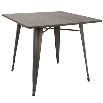 Claremont Dining Table Top Color: Espresso , Base Color: Antique
