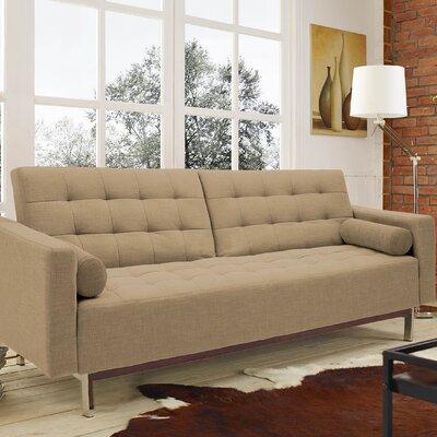 Gordon Sleeper Sofa Upholstery: Light Brown