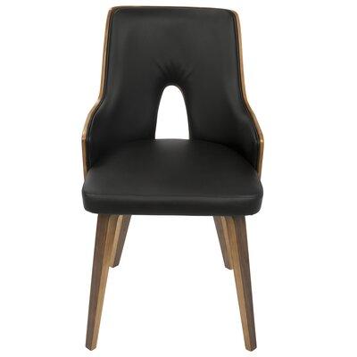Buckhurst Upholstered Dining Chair Color: Black