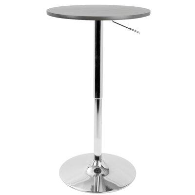 Serio Adjustable Height Pub Table Finish: Gray
