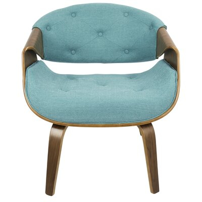 Lisburn Curvo Barrel Chair Upholstery: Teal