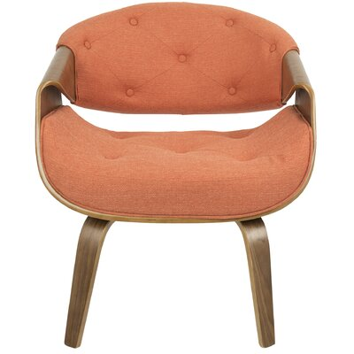 Lisburn Curvo Arm Chair Upholstery: Orange
