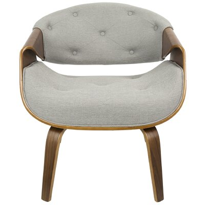 Lisburn Curvo Barrel Chair Upholstery: Gray