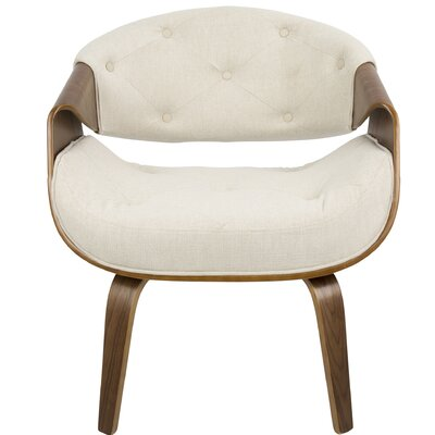 Lisburn Curvo Barrel Chair Upholstery: Cream