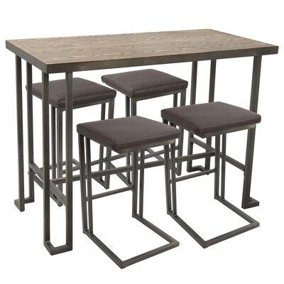 Damen Counter 5 Piece Pub Table Set