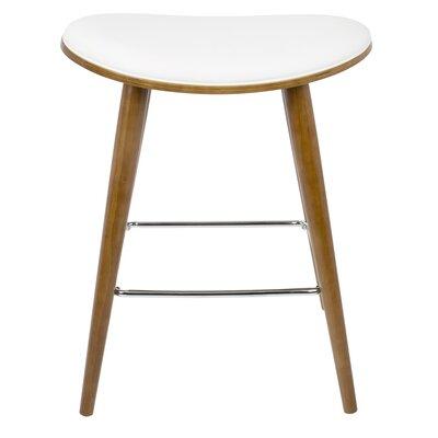 Kylie Saddle Fixed Base Counter 26 Bar Stool Upholstery: White