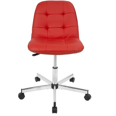 Atami Task Mid-Back Desk Chair Color: Red