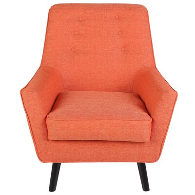Bairdstown Armchair Upholstery: Orange
