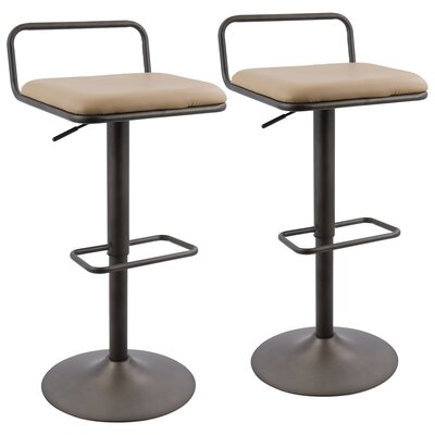 Moa Adjustable Height Swivel Bar Stool