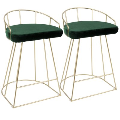 Lystra 26 Bar Stool Color: Green