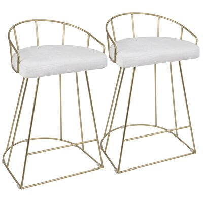 Lystra 26 Bar Stool Color: White
